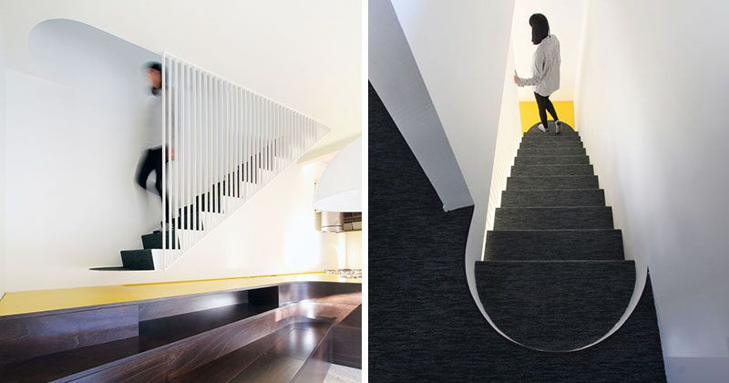 Best A Suspended Metal Staircase Was Designed As Part Of This 400 x 300