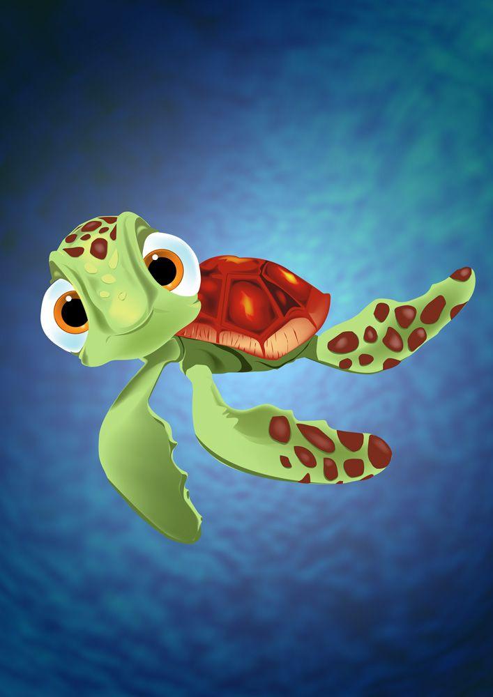 Finding Nemo - Squirt - Movie Art Prints