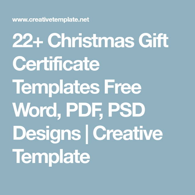 22 christmas gift certificate templates free word pdf psd designs 22 christmas gift certificate templates free word pdf psd designs creative template yadclub Choice Image