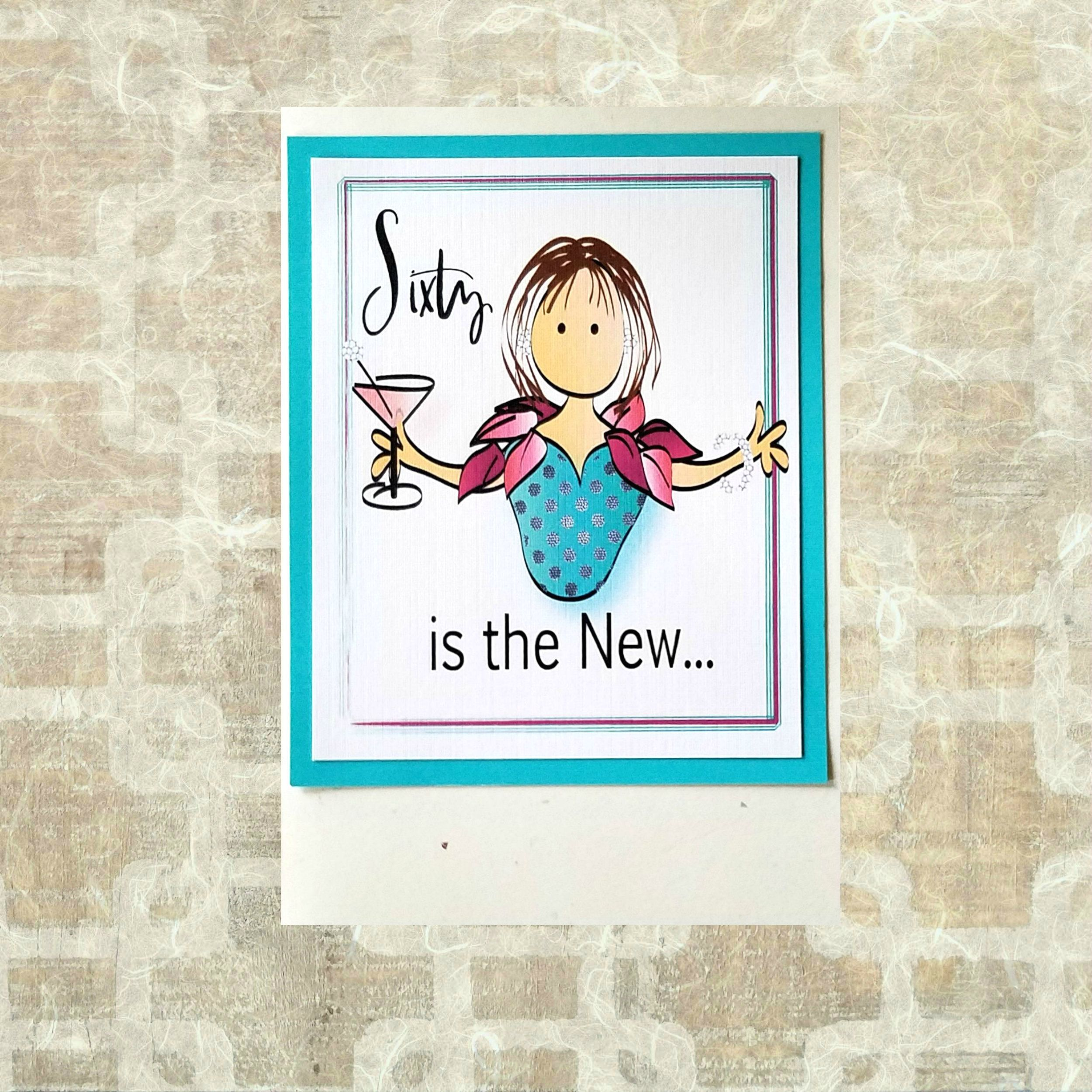60th birthday card for her funny birthday card with