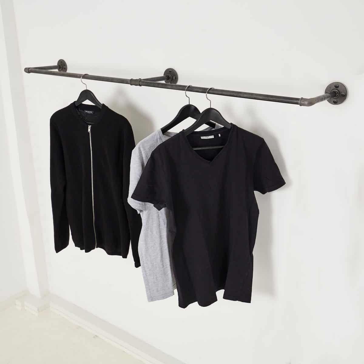 Kleiderstange Industrial Design als Wandgarderobe online kaufen