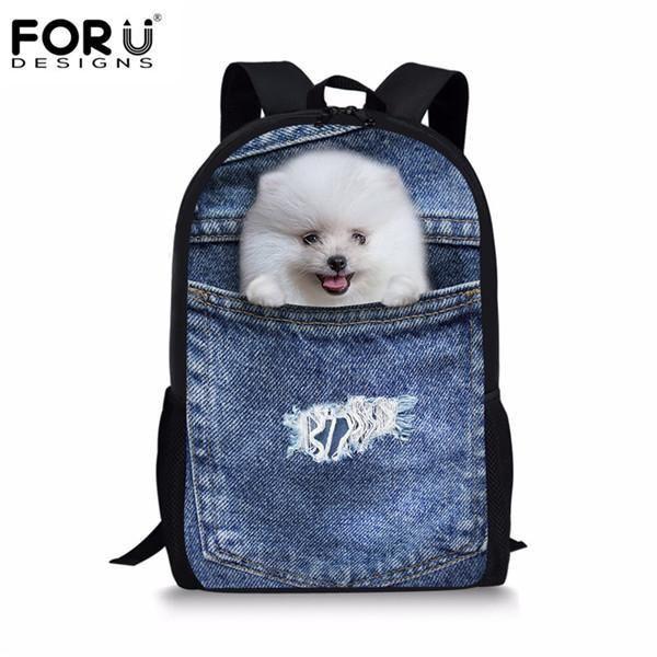 6fb5cb1e2795 Forudesigns Cute Kids Backpack Canvas Bagpack Panda Owl Wolf Animal  Printing Children School Bag For Teenage Boy Girls Rucksack
