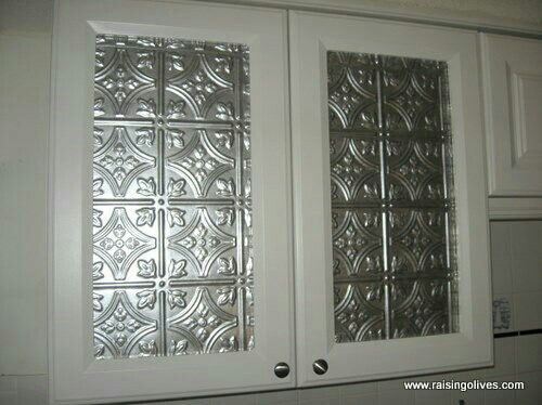 Kitchen Cabinet Makeover Tin Ceiling Inserts Better Homes Gardens