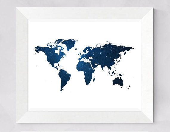 Dorm decor 30x24 printable world map dark bluestarry night wall dorm decor 30x24 printable world map dark bluestarry night wall artworld map posterinspirational printable travel maplarge poster gumiabroncs Gallery