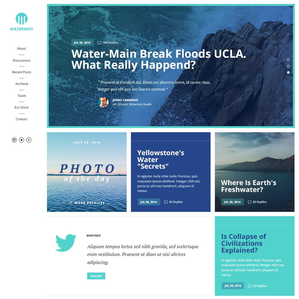 Waterwhy is a clean corporate template. With simple tweaks you can ...