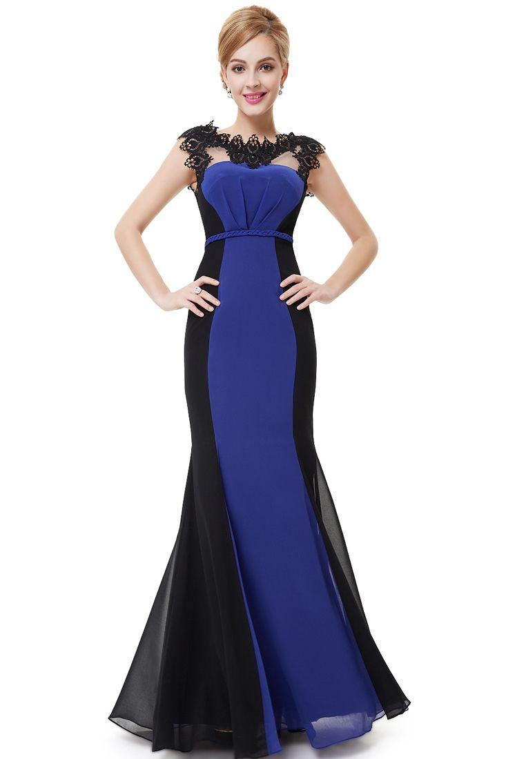 Black Curve Fishtail Evening Gown Maxi Fishtail Evening