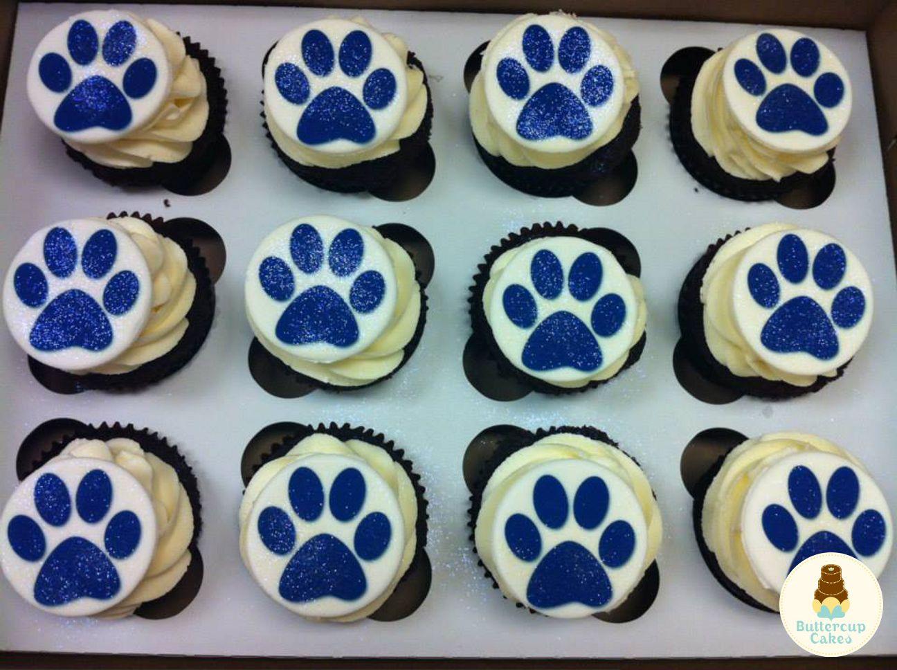Paw Print Cupcakes | Cupcakes | Pinterest | Cupcake cases, Cake ...