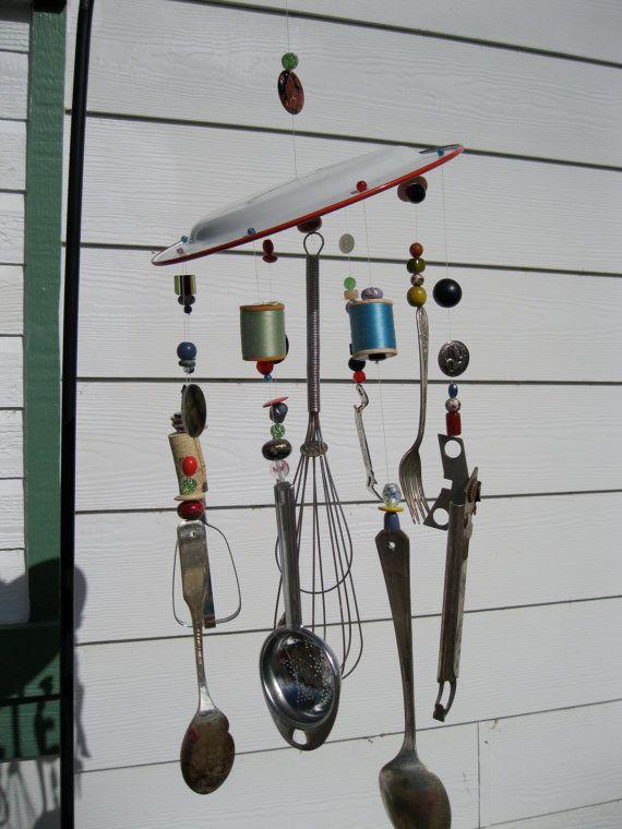 Whimsical Kitchen Utensil Wind Chime Via Etsy