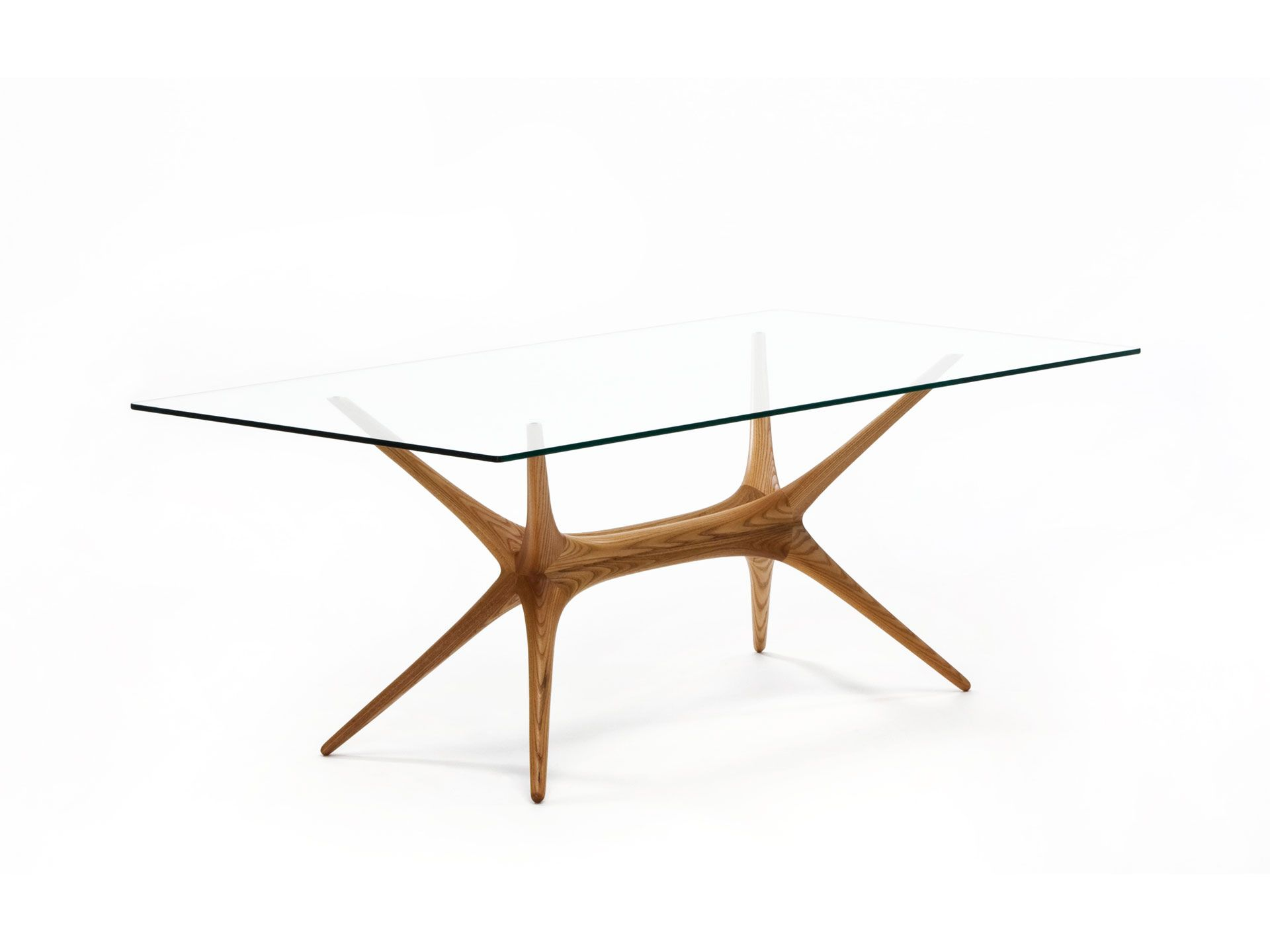 """X Frame"" Glass Top Table by Tapio Wirkkala 1958 Manufactured"