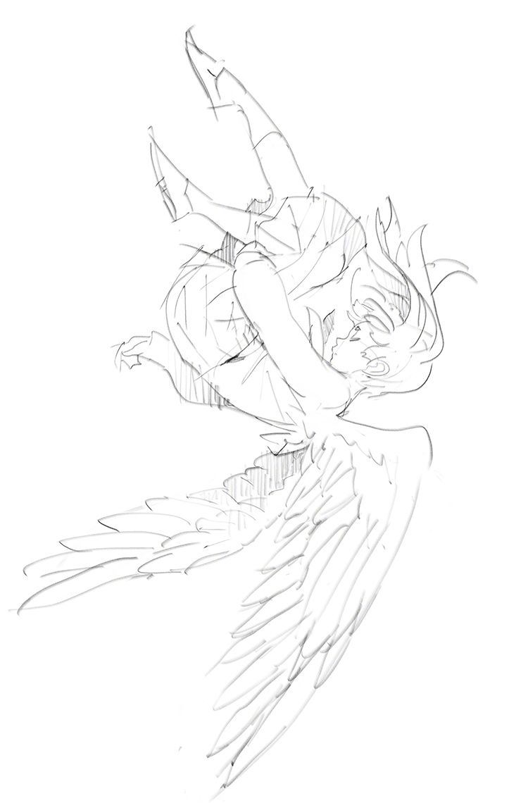 Pose Ange Dessin Manga Ailes Ange Déchu Dessin Art