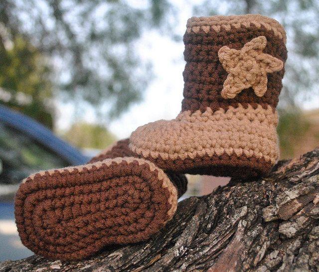 Baby Cowboy Boots, Crochet Baby Booties, Boy Booties, Girl Booties ...
