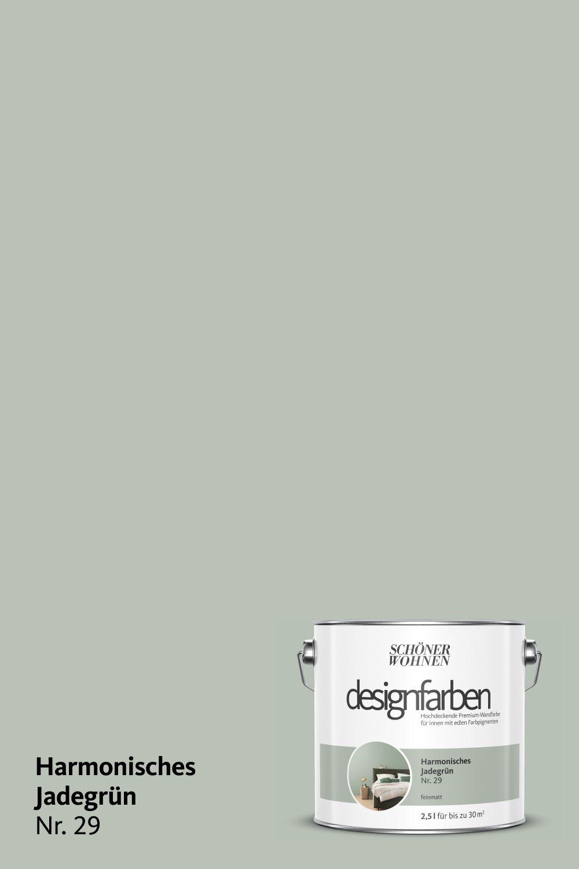 Designfarbe Harmonisches Jadegrun Nr 29 Schoner Wohnen Farbe Grune Zimmer Innenraumfarben