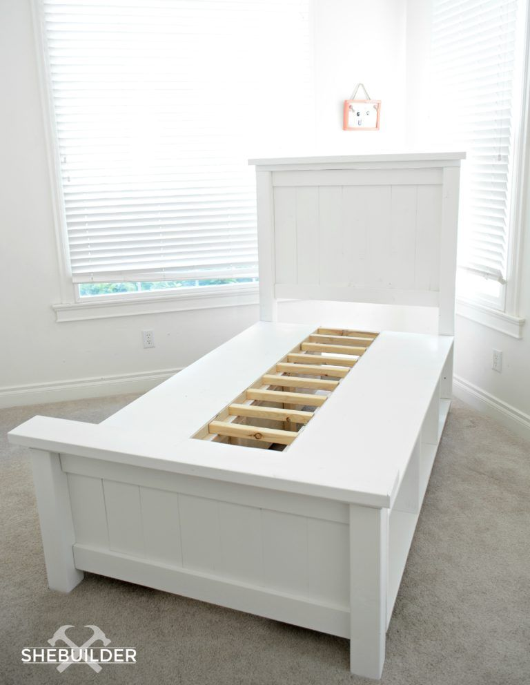 Best Traditional Farmhouse Bed With Storage Bed Woodworking Plans Farmhouse Bedding Diy Storage Bed 640 x 480
