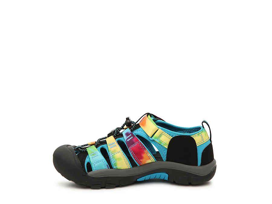 4b05ef1dc7 Girls Newport H2 Toddler & Youth Sandal -Multicolor Rainbow Tie Dye ...