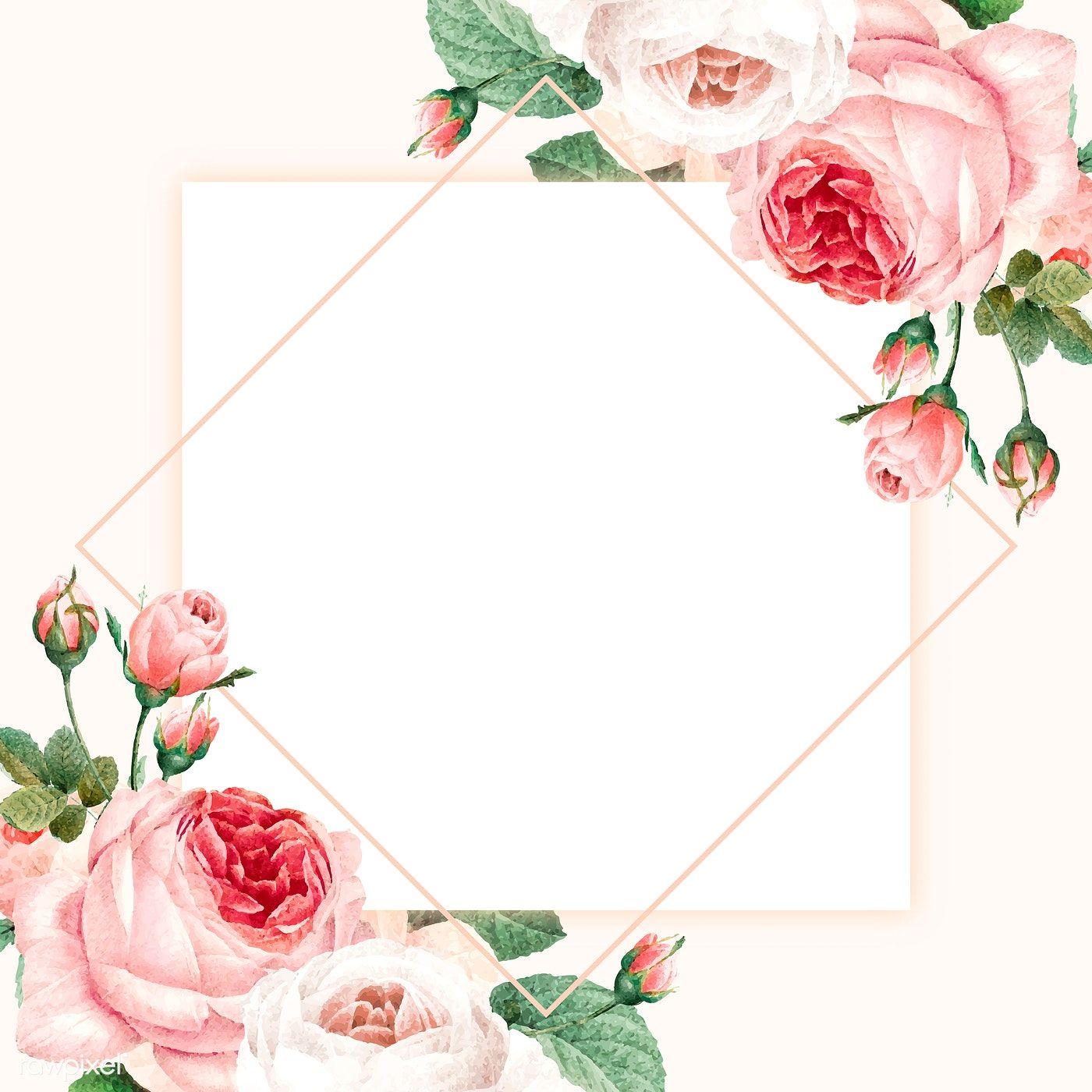 Download Premium Vector Of Blank Golden Square Frame Vector 1216062 Monograma Casamento Ideias De Convite Convite De Casamento