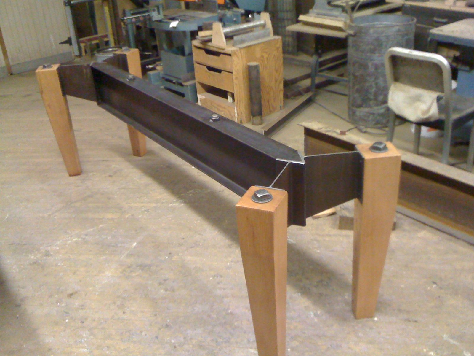 Industrial Modern Coffee Table (work In Progress). This