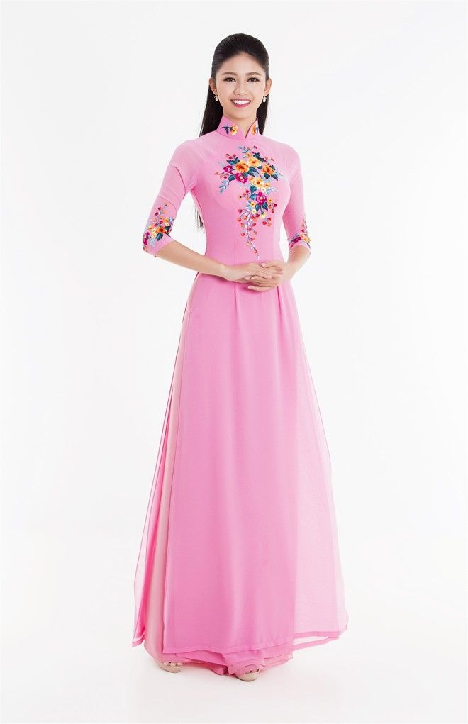 Top 3 Hoa hậu Việt Nam 2016 duyên dáng áo dài pastel hình ảnh 3