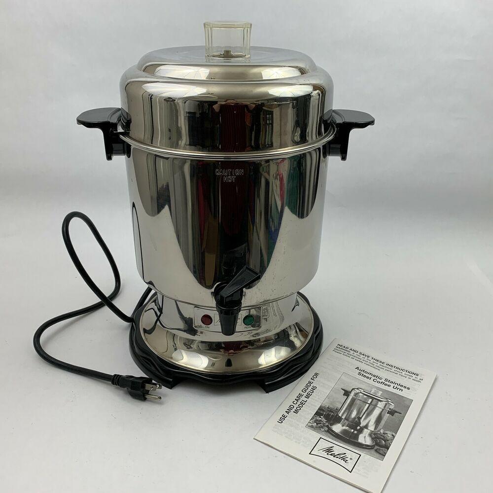 Melitta Coffee Pot Banquet Catering Urn 45 Cup Percolator Maker Server Meu45 Melitta Coffee Urn Iced Coffee Drinks Coffee Reception