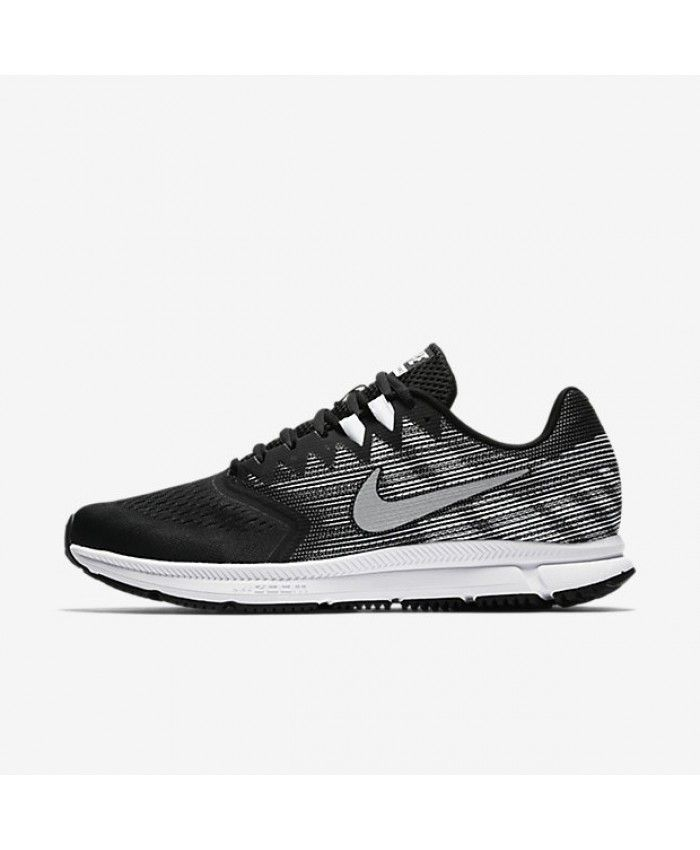 Nike Air Zoom Span 2 Black Dark Grey White Metallic Silver 908990-001