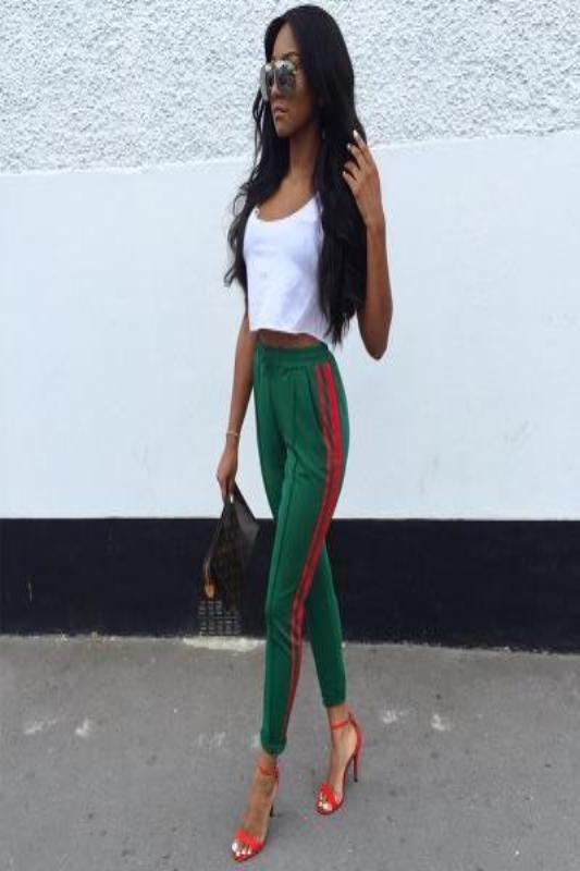 dc52b03b64a Gucci Green Pants-Green