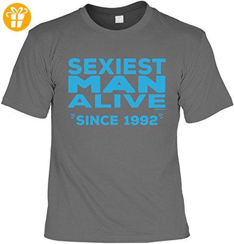 T-Shirt - Sexiest Man Alive - Since 1992 - lustiges Sprüche Shirt als  Geschenk zum 25. Geburtstag: Amazon.de: Bekleidung
