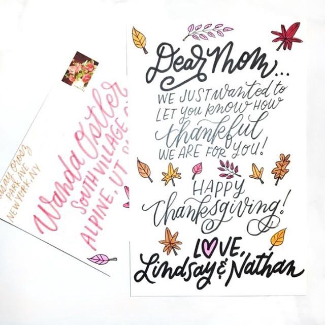 examples of thank you cards sent via punkpost and ideas on what to write in your thanksgiving card
