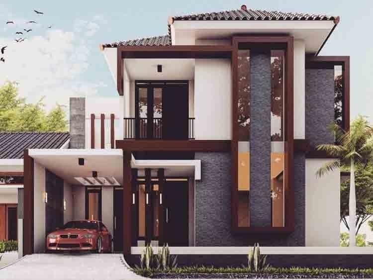 75 Model Rumah Minimalis 2 Lantai Sederhana Modern Desain Rumah Tingkat Cantik Tukang De House Designs Exterior Minimalist House Design Small House Exteriors