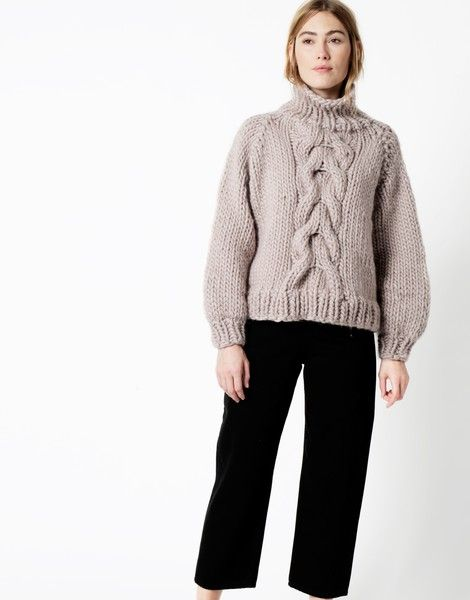 I love Mr Mittens X WATG | Cropped Cable Sweater woolandthegang ...