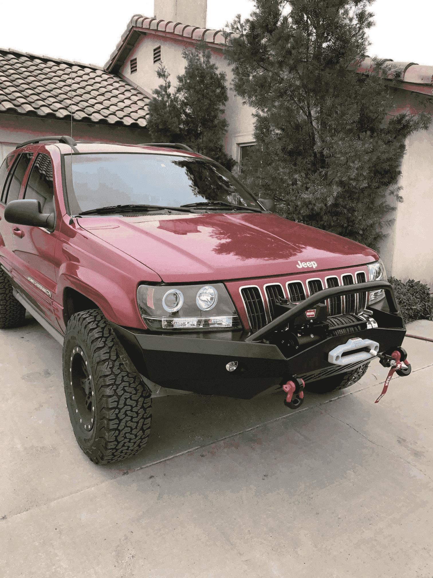 Jeep Wj Bumper Grand Cherokee Wj Front Bumper W Winch Mount