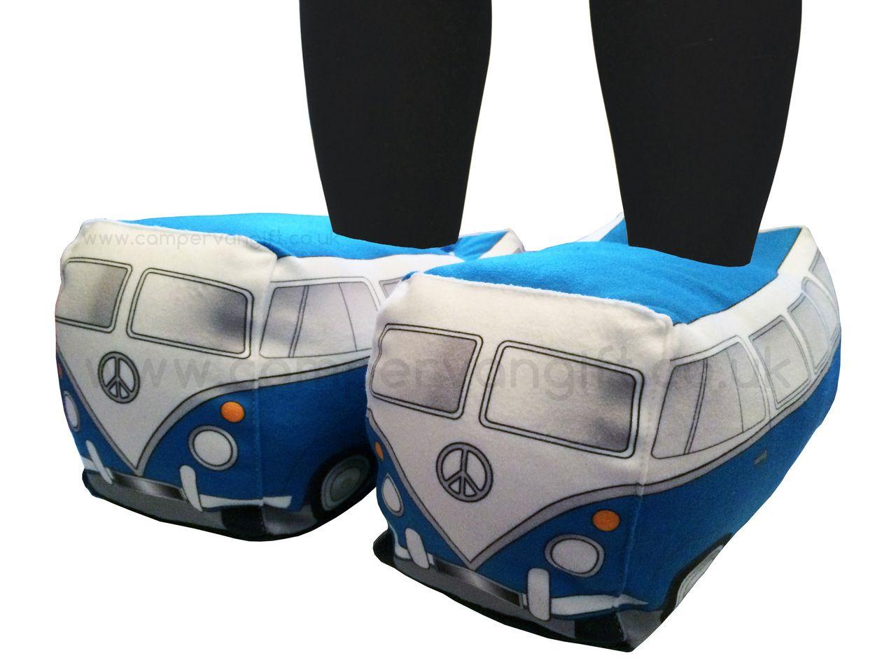 Campervan Gift - Plush T1 Split Screen Campervan Slippers d95d736ad