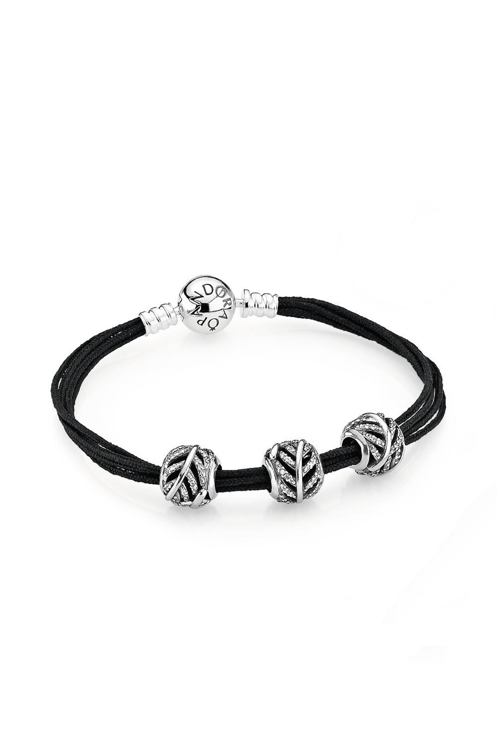 e1d1f0045db16f Simple bracelet styling with three shimmering feather charms in sterling  silver. #PANDORA