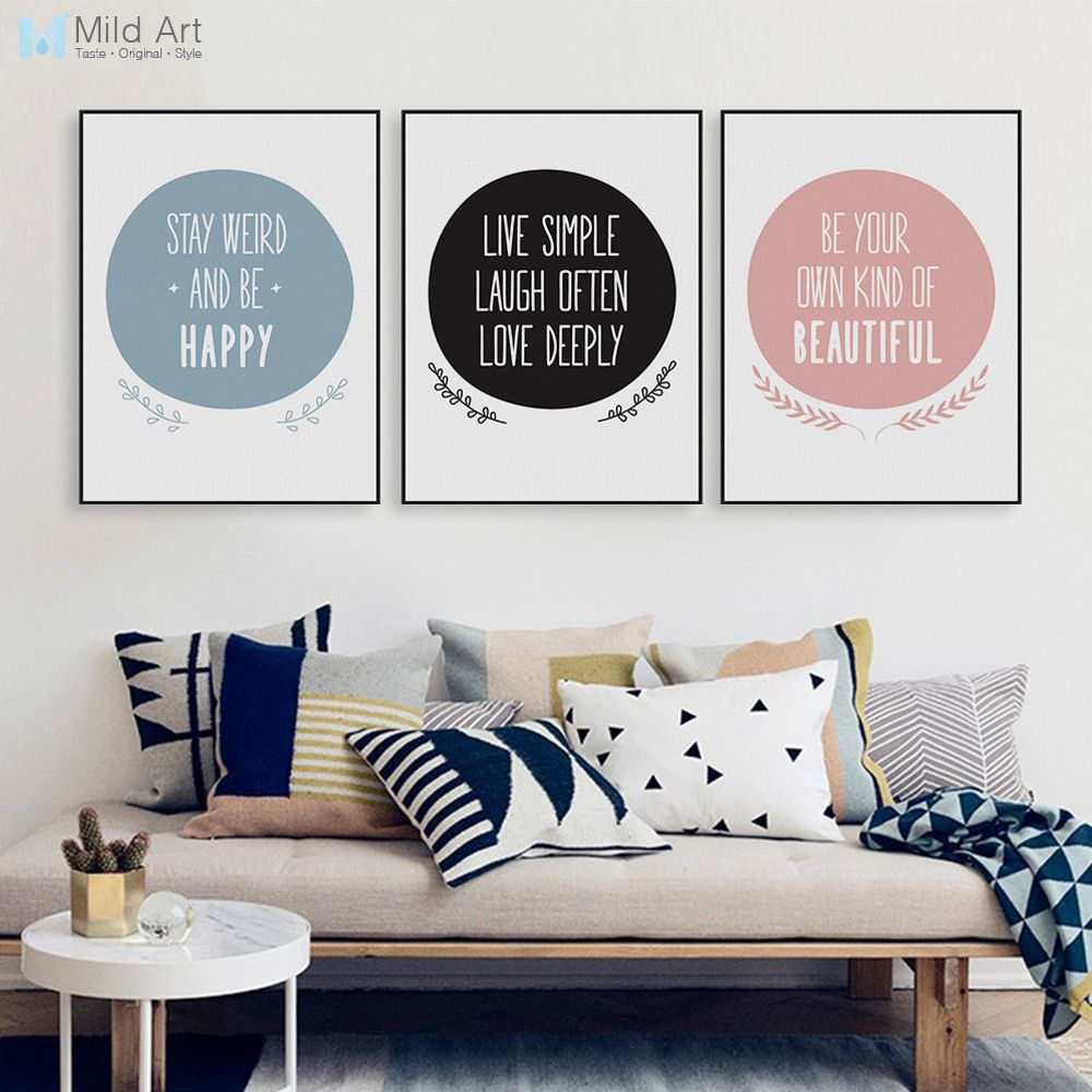 Modern Nordic Motivational Quote A4 Canvas Art Print Poster Big ...