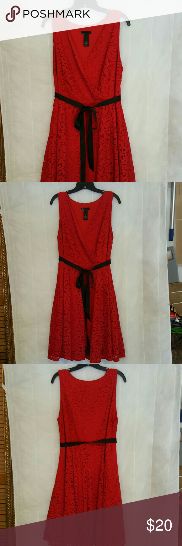 Lane bryant red lace dress land bryant dress red lace over