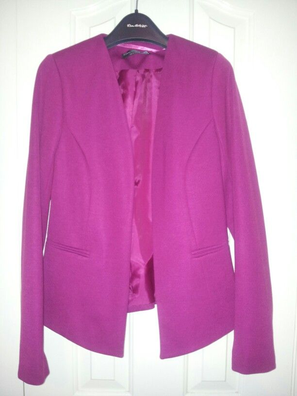 My new Magenta Jacket from Miss Selfridge #Love