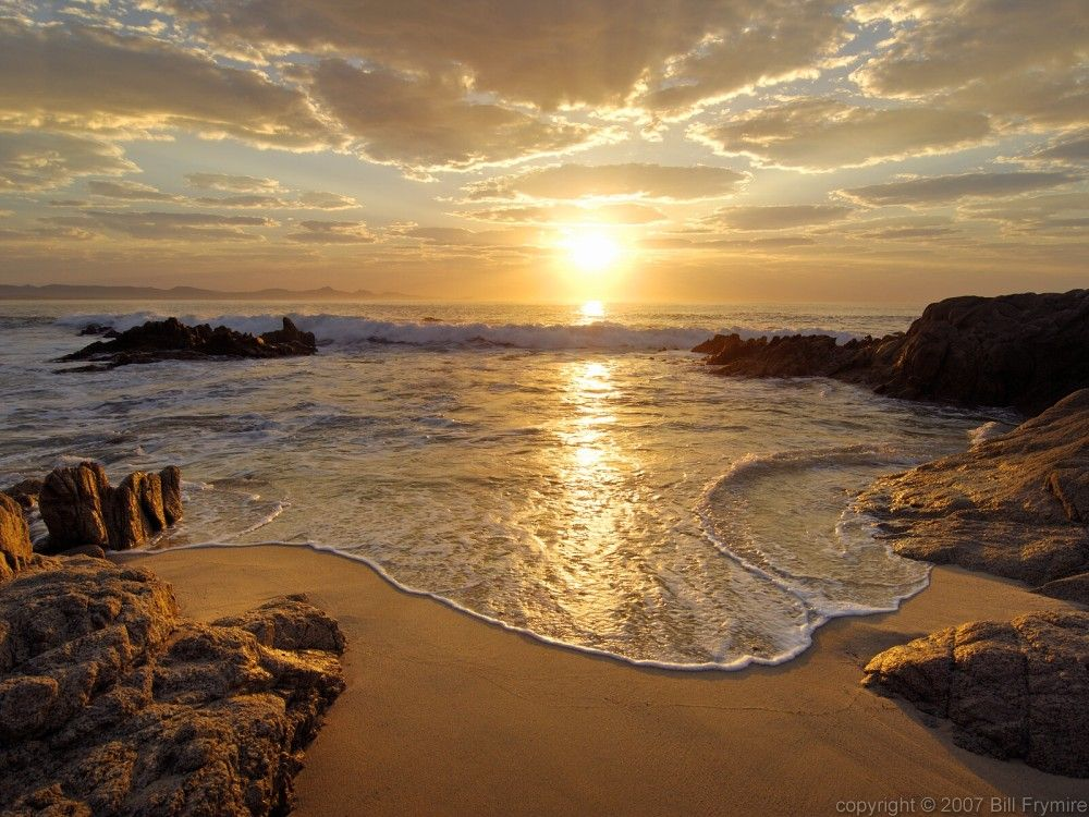 Beach near San José del Cabo, Mexico at sunrise | Here Comes the Sun | Large wall murals, Sunset ...