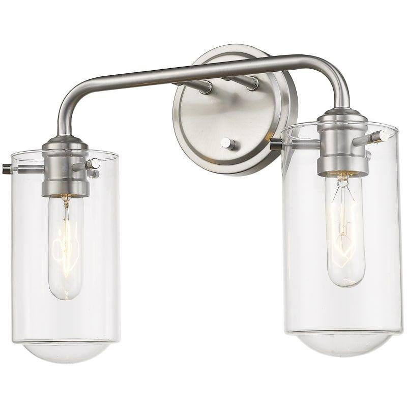 """Photo of Z-Lite 471-2V Delaney 2 Light 15 """"wide bathroom washbasin lamp brushed nickel Interior lighting Bathroom lights washbasin lamp"""