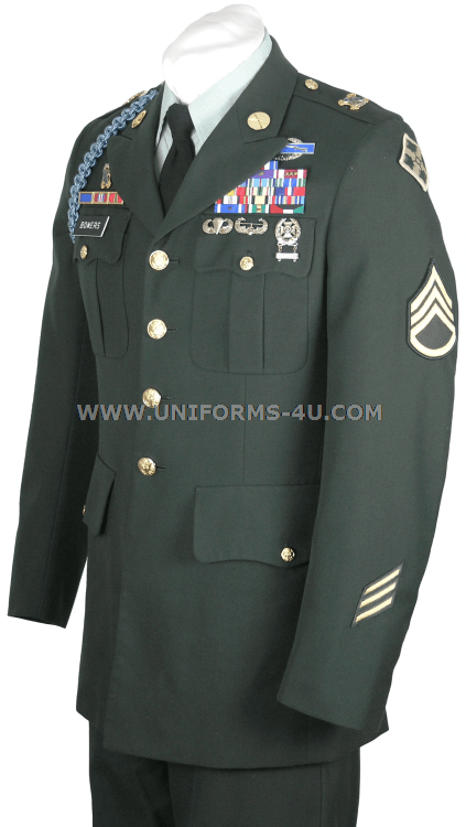 aa7633fc91cf7 US Army Class A Enlisted Green Uniform | insurance listed & sent ...