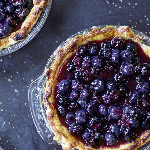 Simple blueberry pie // www.feedfeed.info
