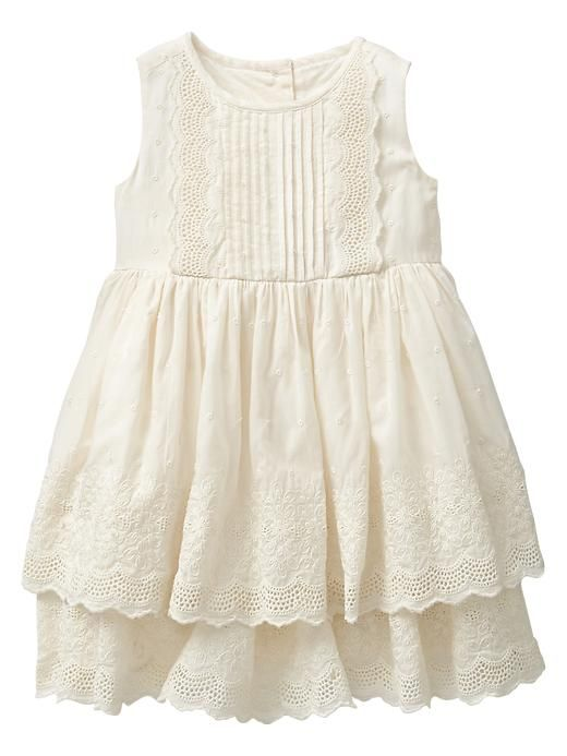 51c984c47d9 Tiered eyelet dress. Gap