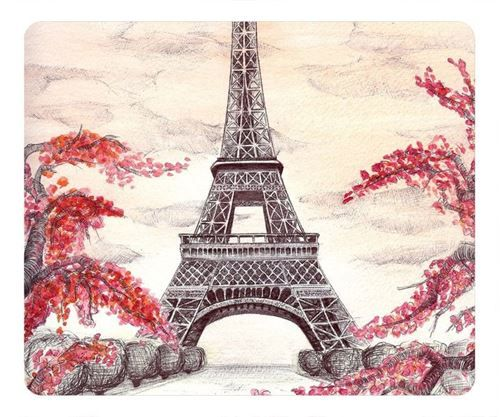 Picture Of Eiffel Tower Fashion Rectangle Mouse Pad