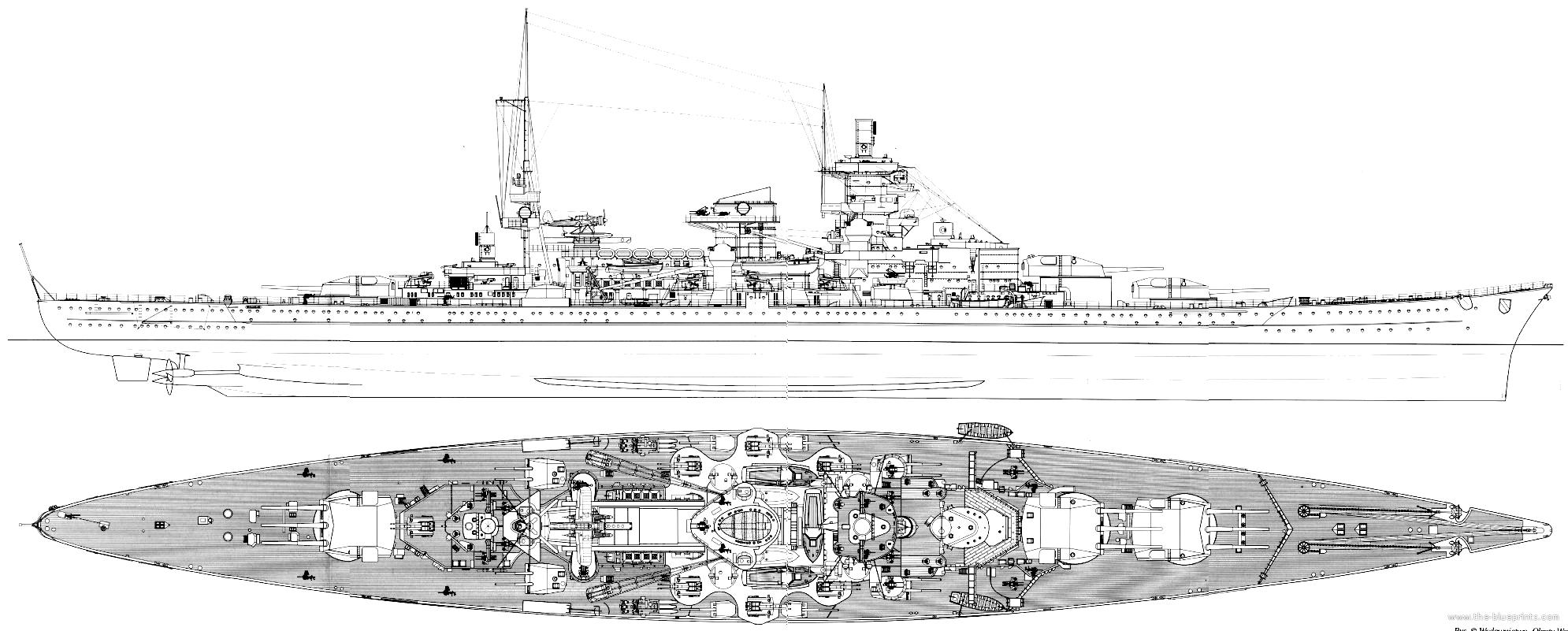 Dkm Scharnhorst 1943  Battleship