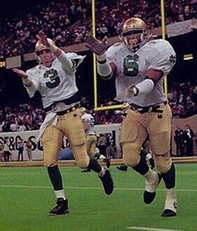 8a7b88f6583 Rick Mirer and Jerome Bettis   Here Come the Irish- the Notre Dame ...