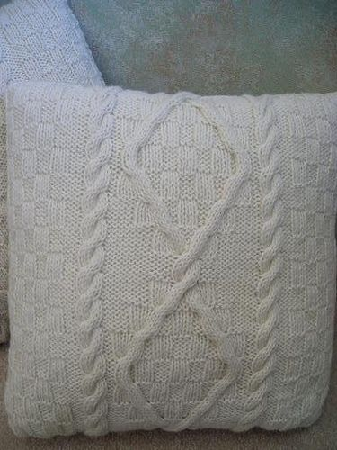 Knitted Aran Pillow Free Pattern Printed Knitting Pillows