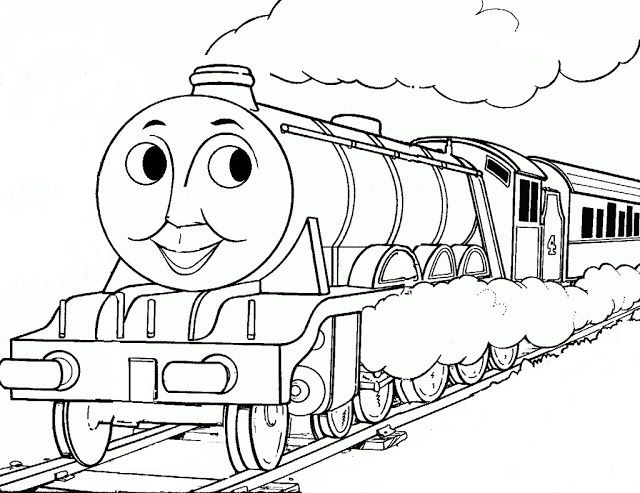 10 Gambar Mewarnai Kereta Api Warna Gambar Animasi