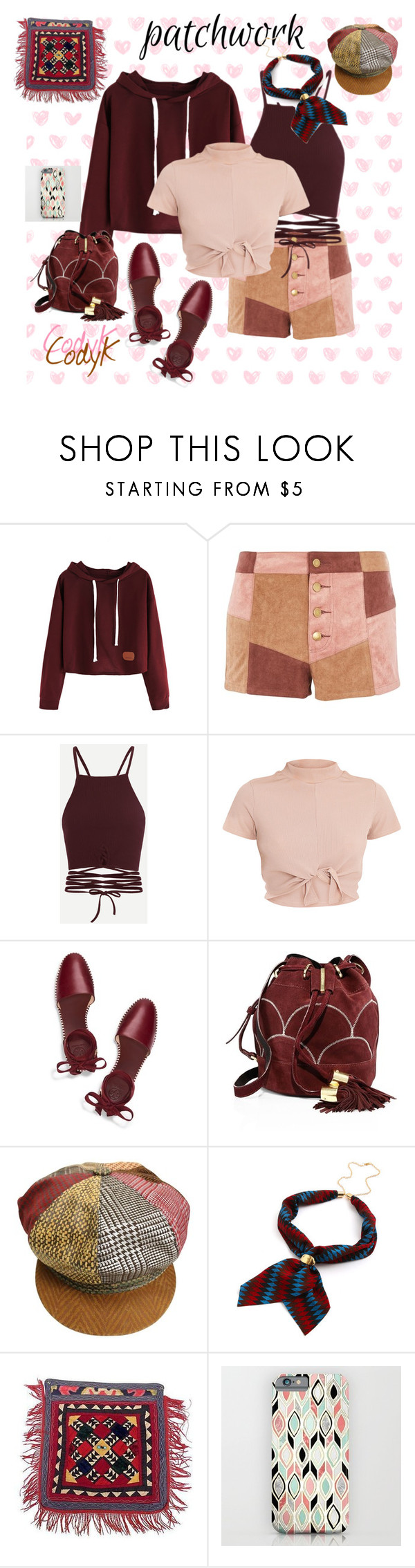 """""""Patchwork"""" by cody-k ❤ liked on Polyvore featuring WYLDR, Tory Burch, See by Chloé and Roberto Cavalli"""