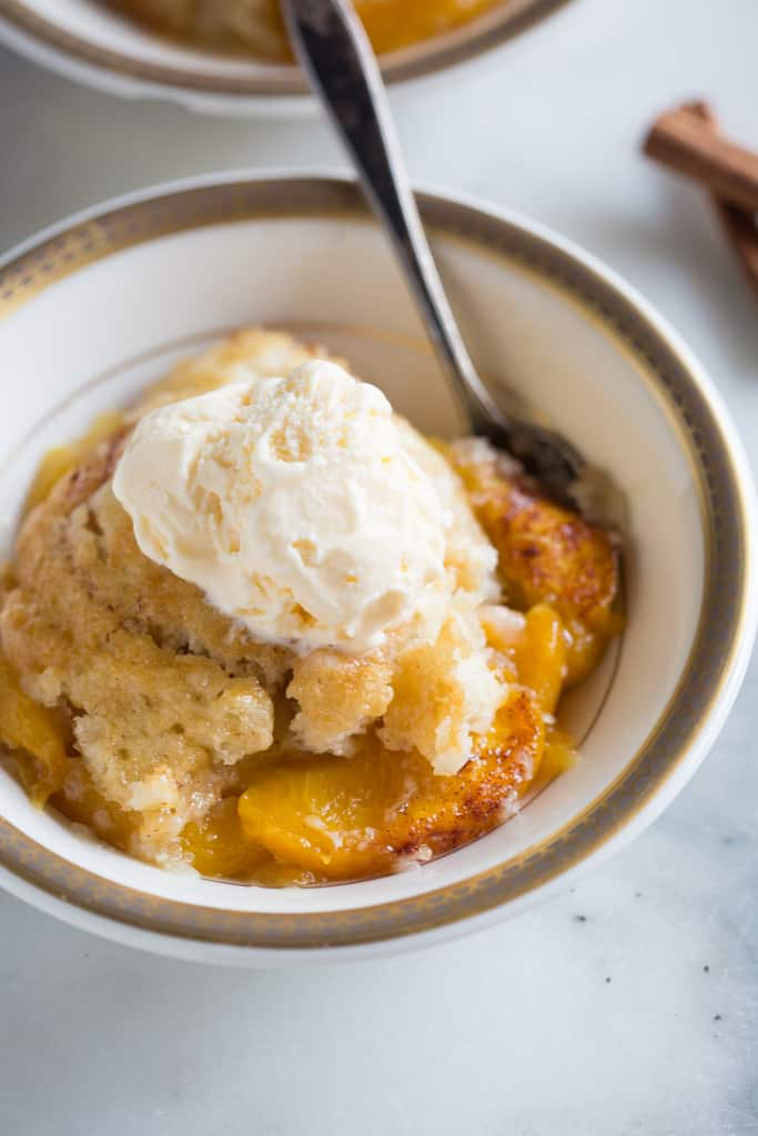 Peach Cobbler #peachcobblercheesecake