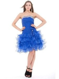 679366959 Short royal blue ruffle prom dresses under $50 dollars - Homecoming prom  holiday party dresses 2014