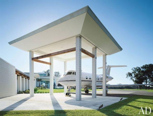 John Travoltau0027s Parking Space For His Beloved Jet. Love The #carport #design  For