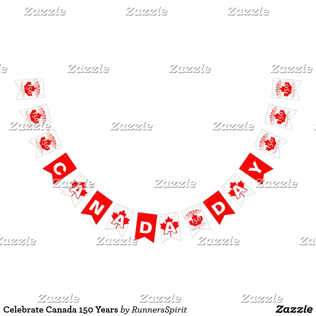 Wedding Party Gifts Canada: Celebrate Canada 150 Years Bunting Flags