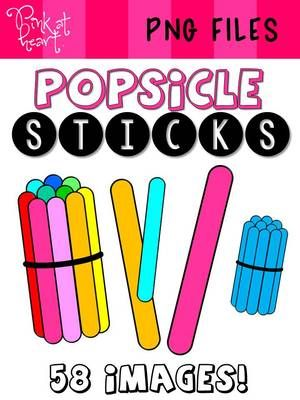 Popsicle Sticks Clip Art From Pink At Heart On Teachersnotebook Com 61 Pages Clip Art Popsicle Sticks Popsicles